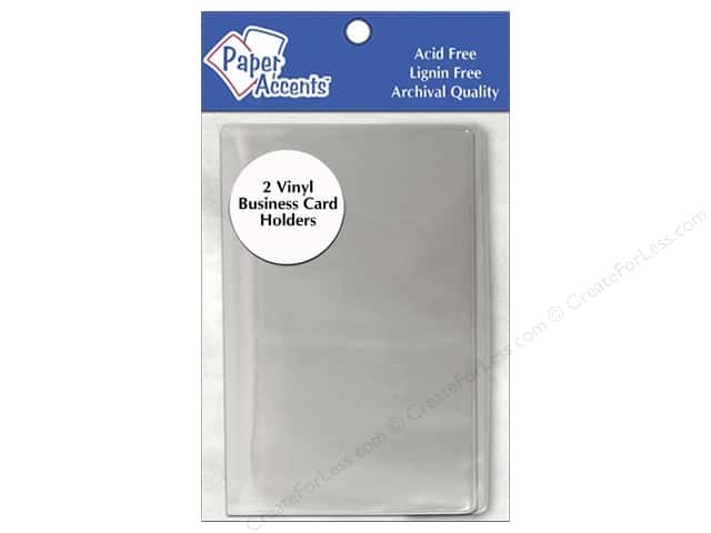 Paper Accents Vinyl Business Card Holder 3 3/4 x 5 in. Clear 2 pc.