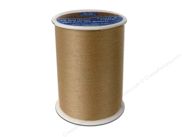 Coats & Clark All Purpose Polyester Thread 350 yd. Camel (12 spools)