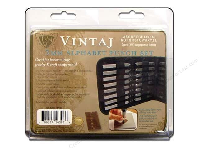 Vintaj 3 mm Alphabet Punch Set 27 pc. Uppercase