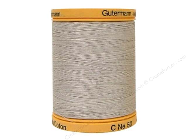 Gutermann 100% Natural Cotton Sewing Thread 875 yd. #618 Sandy Grey