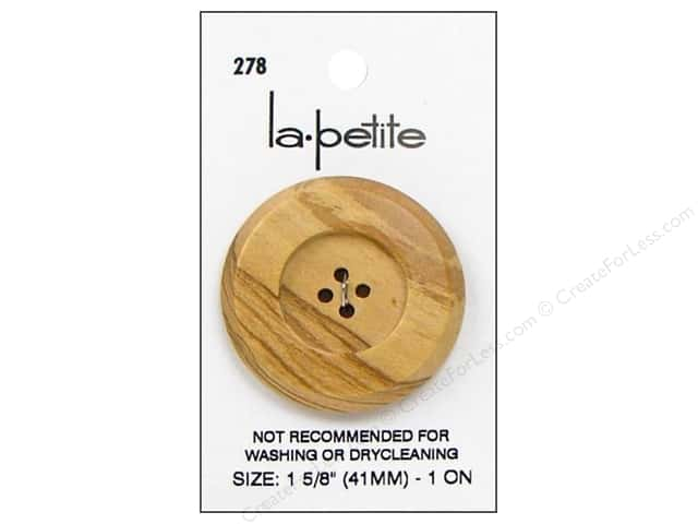 LaPetite 4 Hole Buttons 1 5/8 in. Wood #278 1pc.