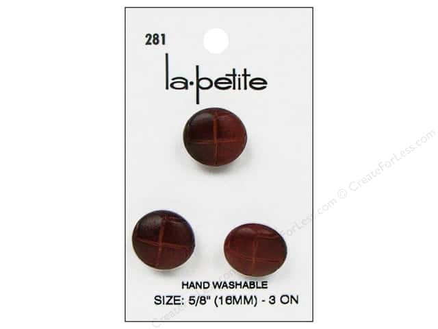 LaPetite Shank Buttons 5/8 in. Leather Natural #281 3pc.