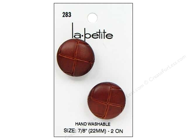 LaPetite Shank Buttons 7/8 in. Leather Natural #283 2pc.