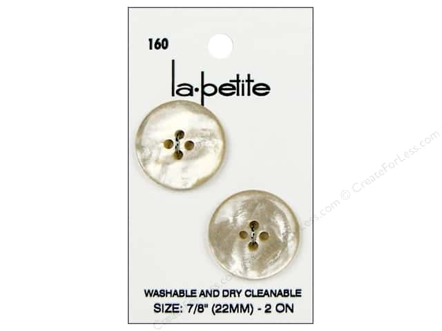 LaPetite 4 Hole Buttons 7/8 in. Ivory #160 2pc.