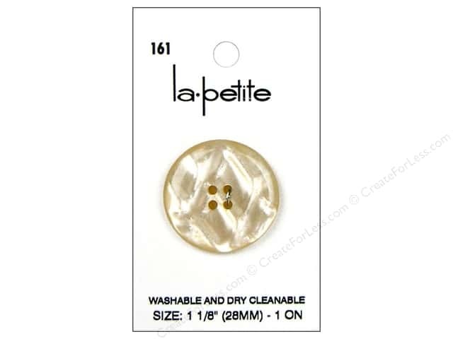 LaPetite 4 Hole Buttons 1 1/8 in. Ivory #161 1pc.