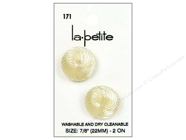 LaPetite Shank Buttons 7/8 in. Ivory #171 2pc.