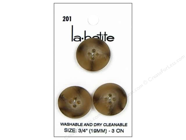 LaPetite 4 Hole Buttons 3/4 in. Tan #201 3pc.