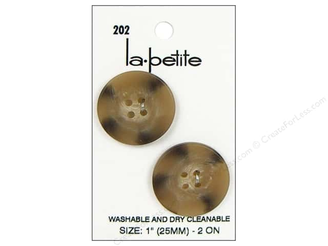 LaPetite 4 Hole Buttons 1 in. Tan #202 2pc.