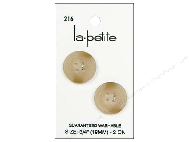 LaPetite 4 Hole Buttons 3/4 in. Beige #216 2pc.