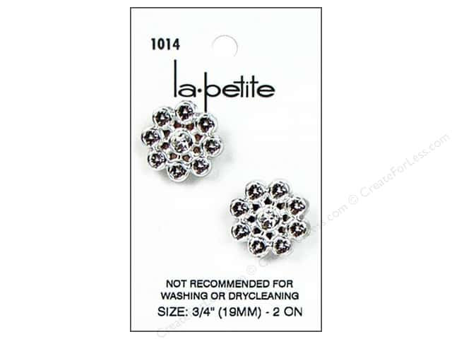 LaPetite Shank Buttons 3/4 in. Silver #1014 2pc.