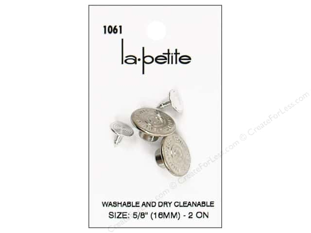LaPetite Tack Buttons 5/8 in. Silver #1061 2pc.