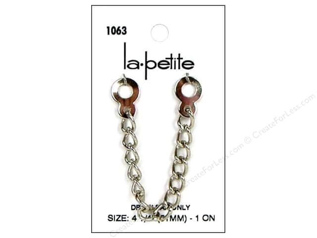 LaPetite Coat Chain Buttons 4 1/4 in. Nickel #1063 1pc.