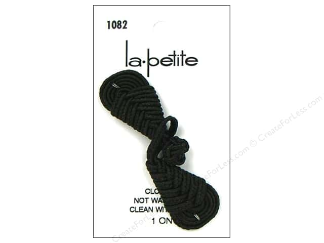 LaPetite Closure 2 3/4 in. Black Frog Braid Knot #1082 1pc.