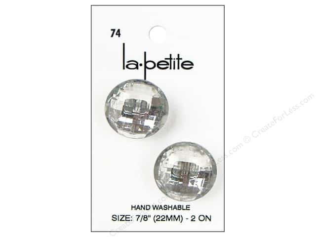 LaPetite Shank Buttons 7/8 in. Crystal #74 2 pc.