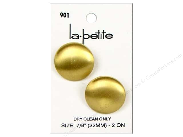LaPetite Shank Buttons 7/8 in. Gold #901 2pc.
