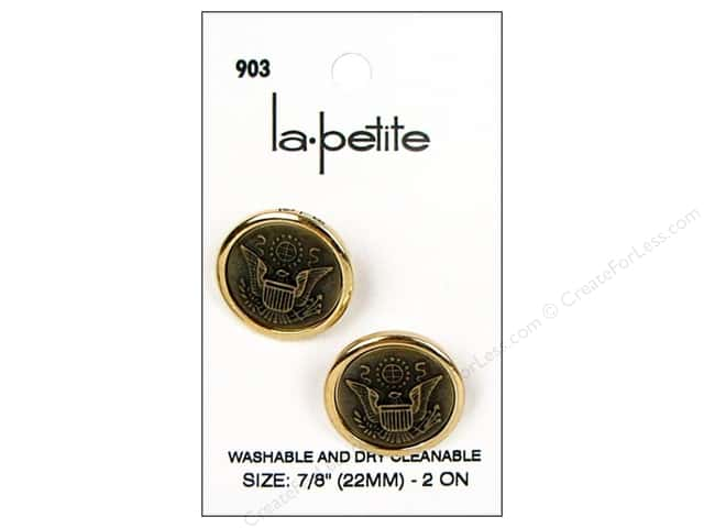 LaPetite Shank Buttons 7/8 in. Gold/Oxidized Brass #903 2pc.