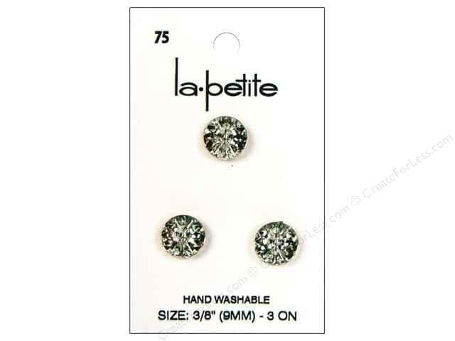 LaPetite 2 Hole Buttons 3/8 in.Crystal #75 3pc.