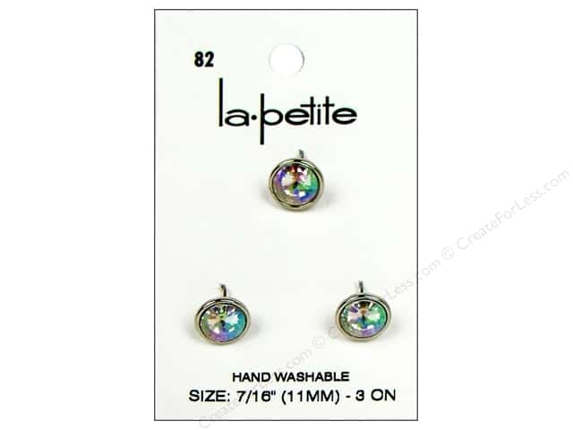 LaPetite Shank Buttons 7/16 in.Crystal #82 3pc.