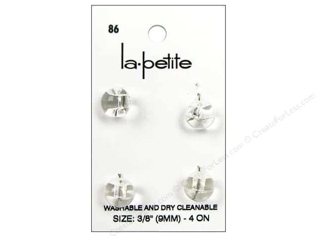 LaPetite Shank Buttons 3/8 in. Crystal #86 4pc.
