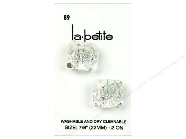 LaPetite Shank Buttons 7/8 in. Crystal #89 2pc.