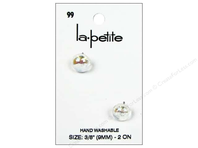 LaPetite Shank Buttons 3/8 in. Iridescent Crystal #99 2pc.