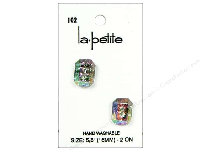 LaPetite 2 Hole Buttons 5/8 in. Crystal #102 2pc.