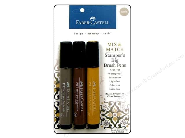 FaberCastell Stamper's Big Brush Pen Mix & Match Set Neutral