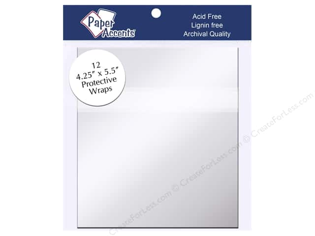 Paper Accents Protective Wrap 4 1/4 x 5 1/2 in. Clear 12 pc.