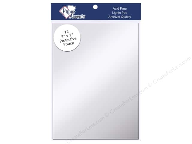 Paper Accents Protective Pouch 5 x 7 in. Clear 12 pc.