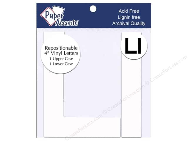 "Paper Accents Adhesive Vinyl 4 in. Letters ""Ll"" 2 pc. Removable White"