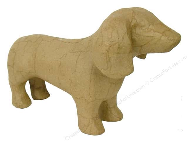 Paper Mache Dog by Craft Pedlars (6 pieces)