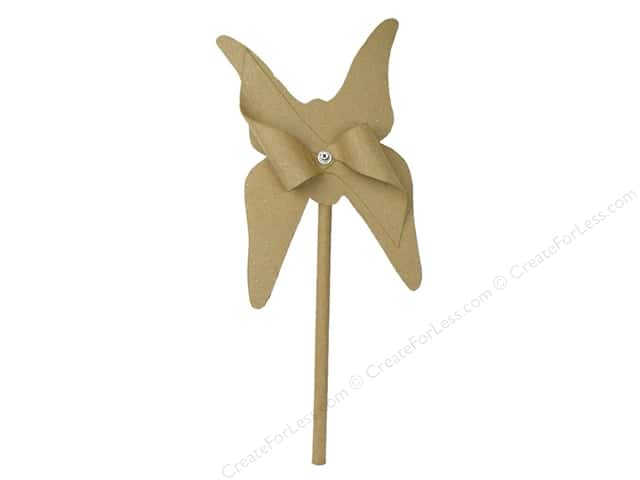 PA Paper Mache Large Butterfly Pin Wheel 16 1/2 in.