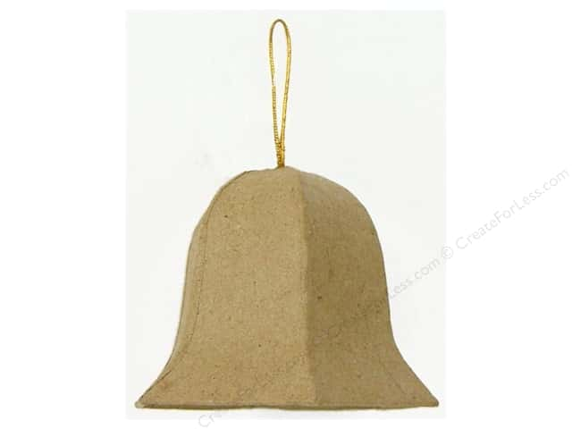 Paper Mache Bell Ornament by Craft Pedlars (3 pieces)