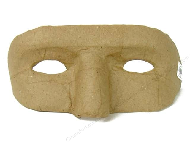 PA Paper Mache Eye Mask with Holes for Eyes 6 1/2 in.