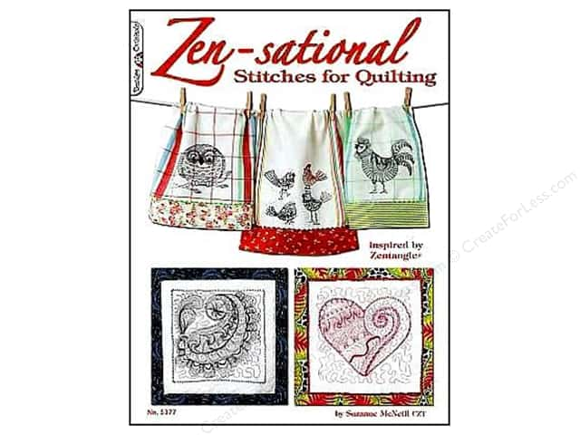 Design Originals Zen-Sational Stitches For Quilting Book