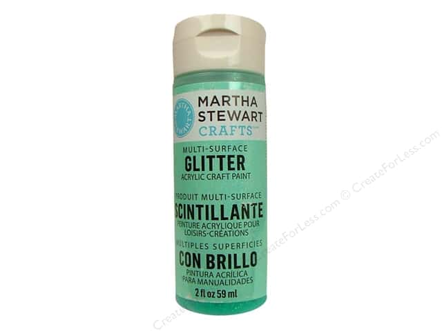 Martha Stewart Craft Paint by Plaid Glitter Wintermint 2 oz.