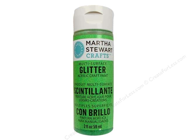 Martha Stewart Craft Paint by Plaid Glitter Sour Apple 2 oz.