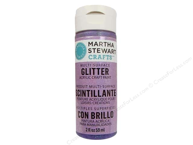 Martha Stewart Craft Paint by Plaid Glitter Sugar Plum 2 oz.