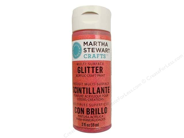 Martha Stewart Craft Paint by Plaid Glitter Cherry Cola 2 oz.