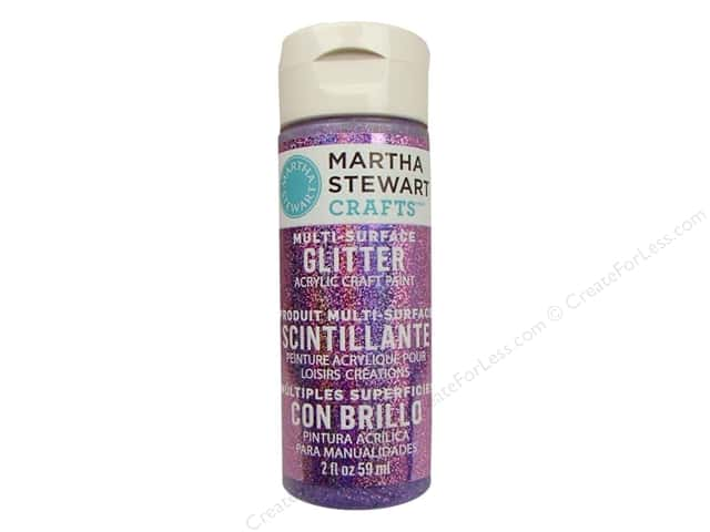 Martha Stewart Craft Paint by Plaid Glitter Charoite 2 oz.