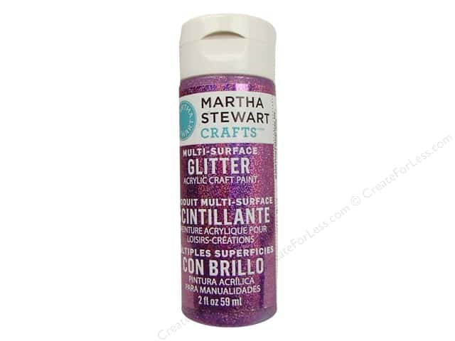 Martha Stewart Craft Paint by Plaid Glitter Amethyst 2 oz.