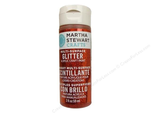 Martha Stewart Craft Paint by Plaid Glitter Carnelian 2 oz.