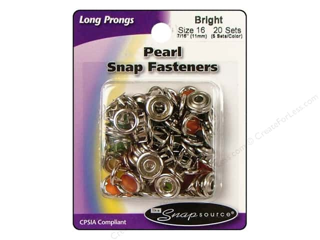 Snapsource Pearl Snap Fastener Size 16 Pearl Bright