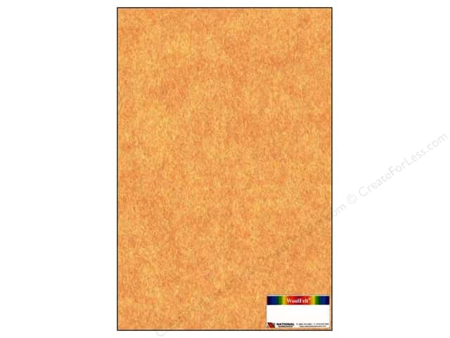 National Nonwovens 20% Wool Felt 12 x 18 in. Terracotta Mist