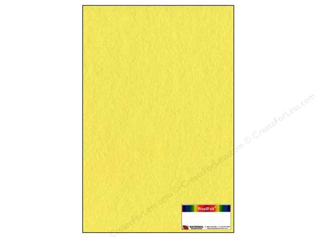 National Nonwovens WoolFelt 12 x 18 in. 20% Banana Cream (10 sheets)