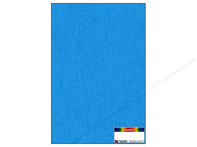 National Nonwovens 20% Wool Felt 12 x 18 in. Blue Bayou