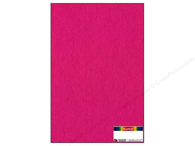 National Nonwovens 20% Wool Felt 12 x 18 in. Fuchsia