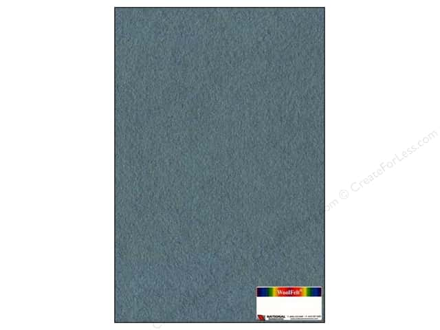 National Nonwovens 35% Wool Felt 12 x 18 in. Confederate Blue (10 sheets)