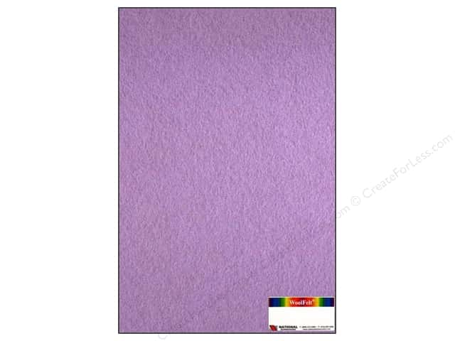 National Nonwovens 35% Wool Felt 12 x 18 in. Wisteria (10 sheets)