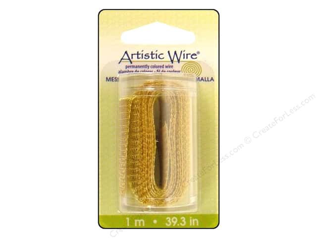 Artistic Wire Mesh 3/4 in. Gold Color 39 in.
